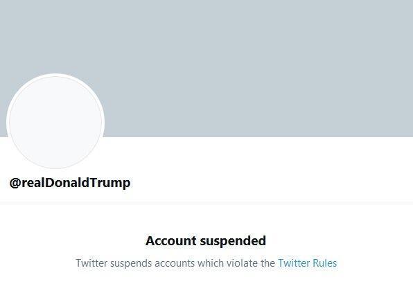 آزادی بیان، توئیتر حساب کاربری ترامپ را برای همواره بست!